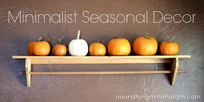 Minimalist seasonal decor