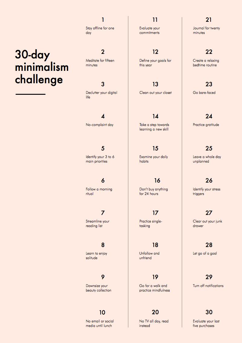 30daychallengeminimalism