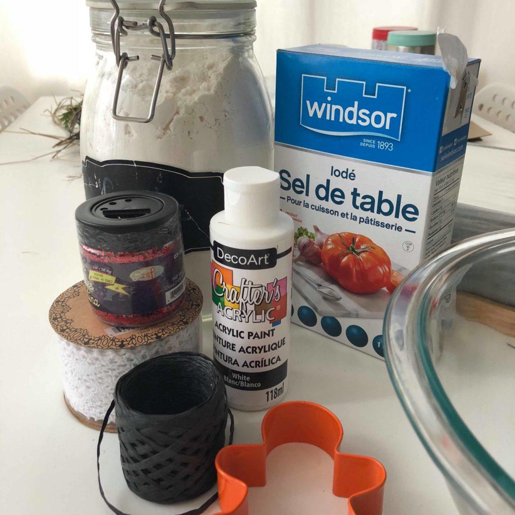 ingrédients pâte à sel peinture noël